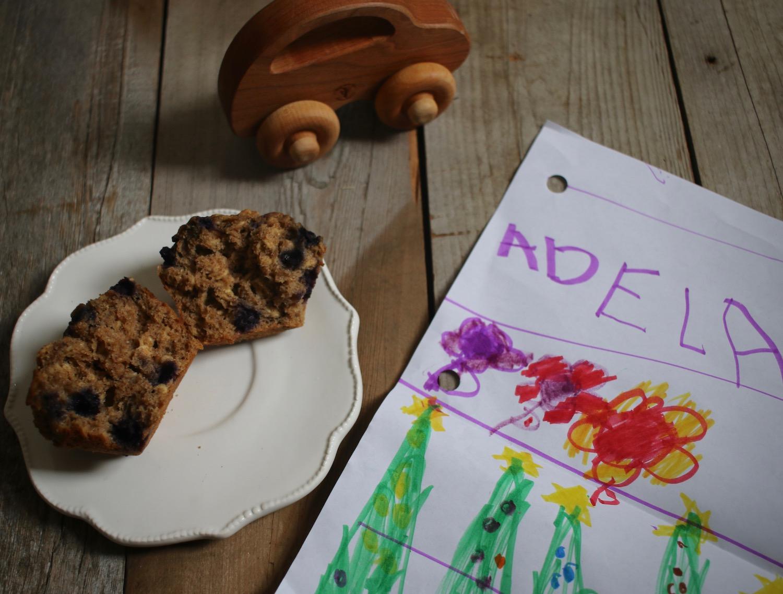 Whole Grain Blueberry Muffins 5 | Linden & Lavender