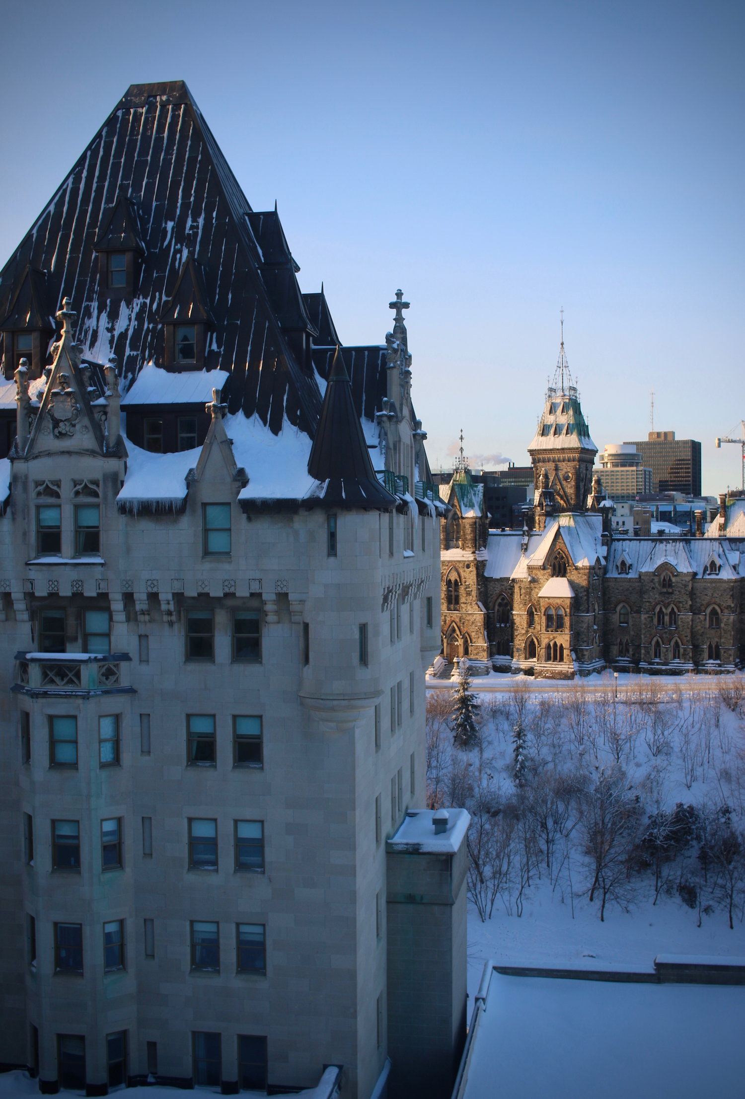 Chateau Frontenac with Parliament Hill | Linden & Lavender