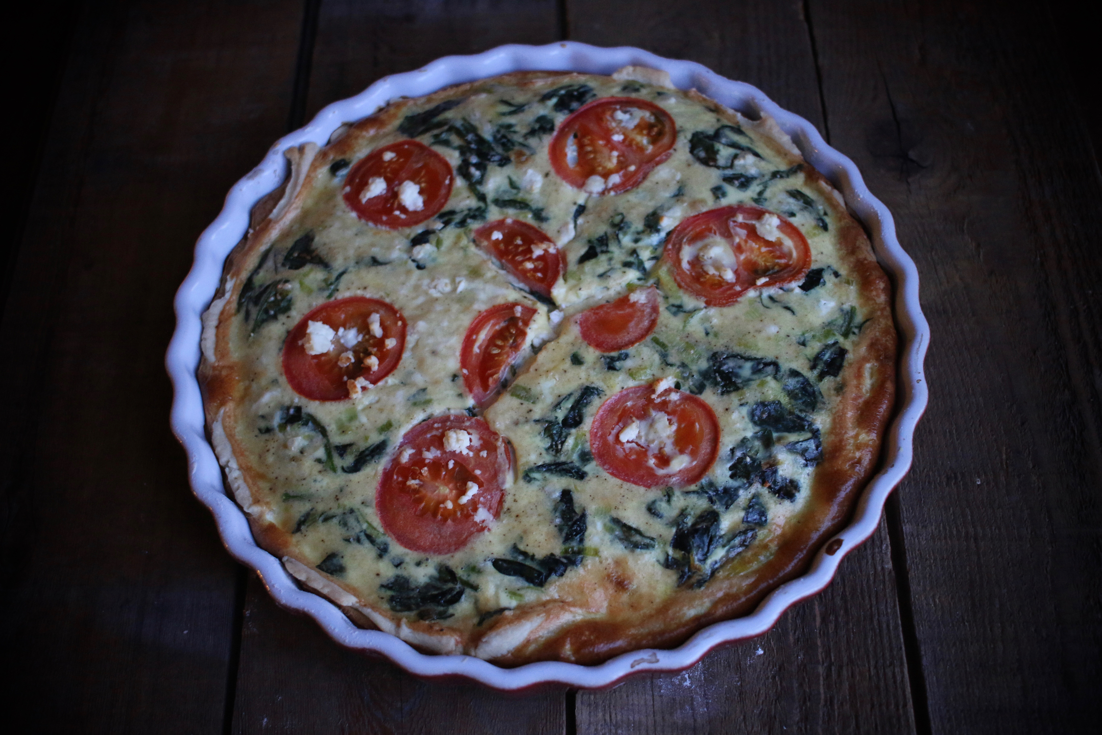 Spinach and Feta Quiche | Linden & Lavender