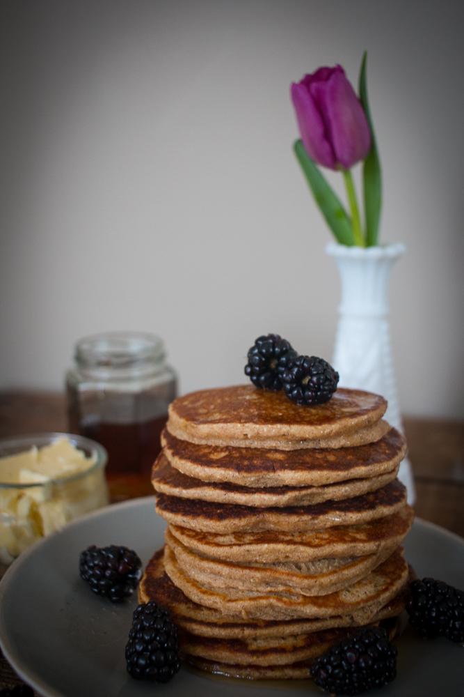 Gluten Free Banana Oatmeal Pancakes | Linden & Lavender