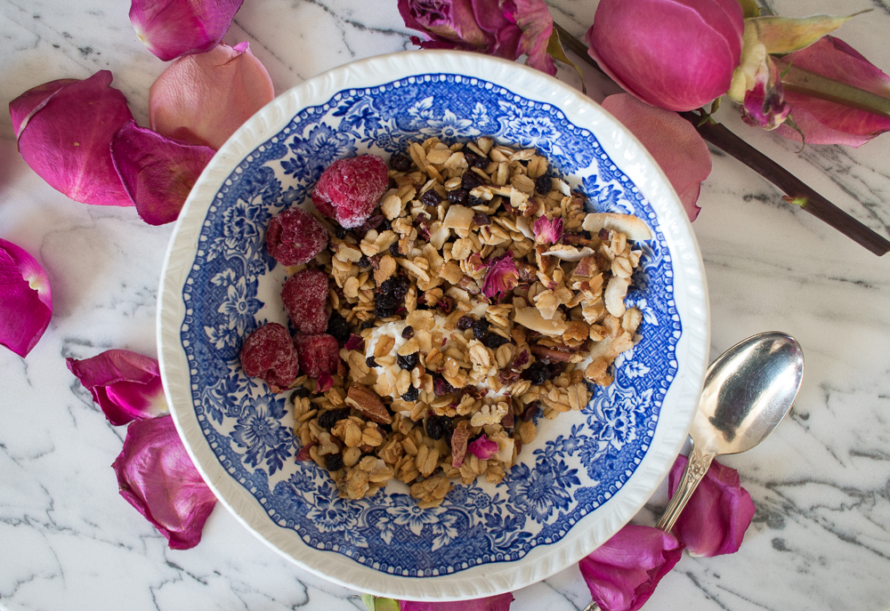 Rose and Pecan Granola | Linden & Lavender
