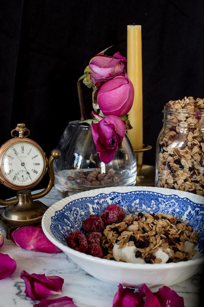 Rose & Pecan Granola   Linden & Lavender