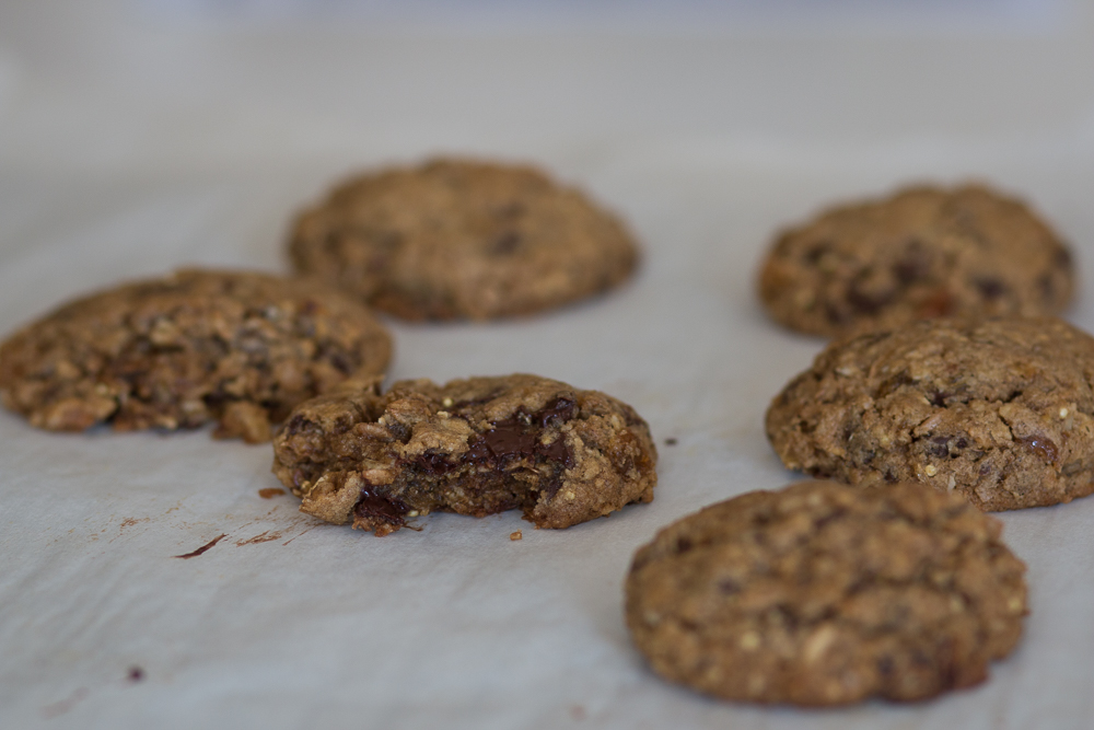 Hearty Chocolate Chip Oatmeal Cookies   Linden & Lavender
