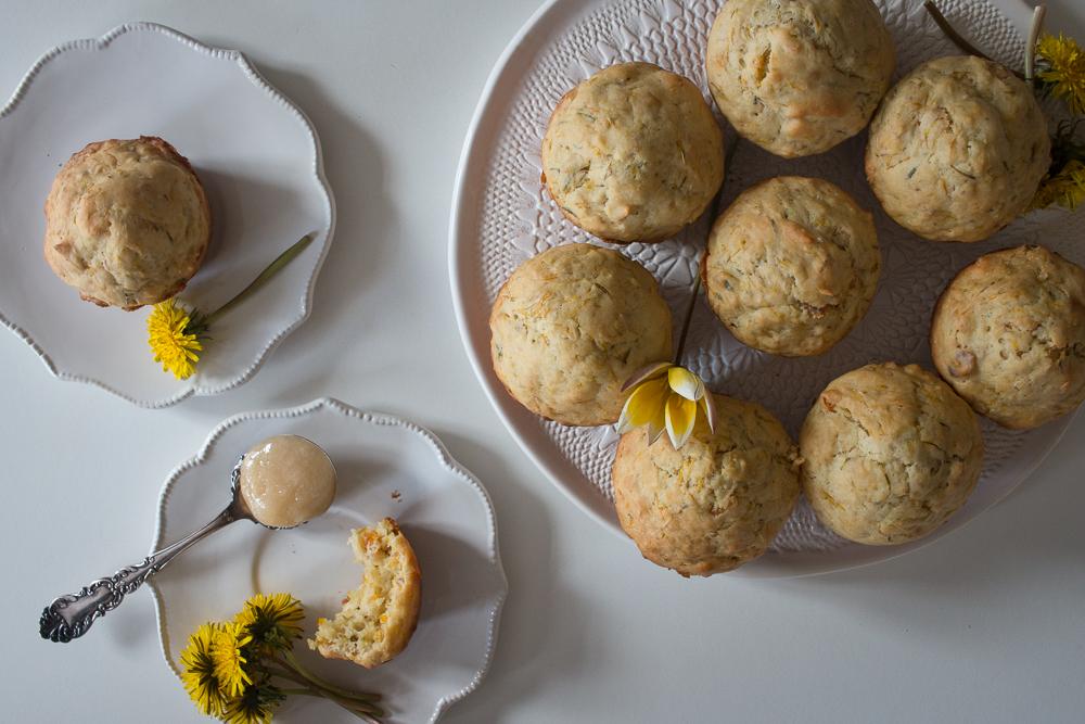Dandelion Muffins with Honey