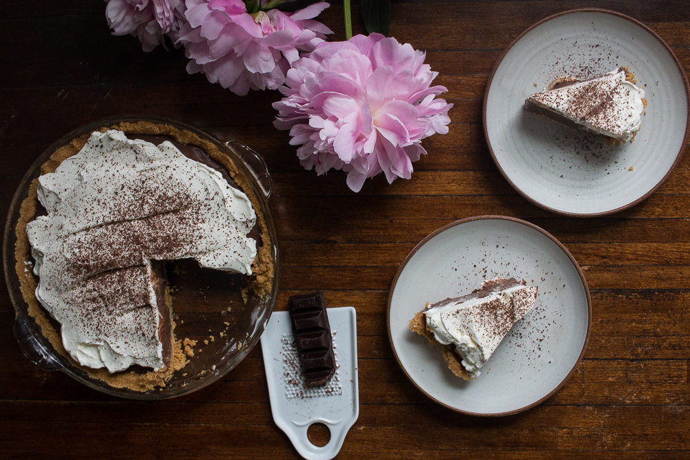 Chocolate pudding pie | Linden & Lavender
