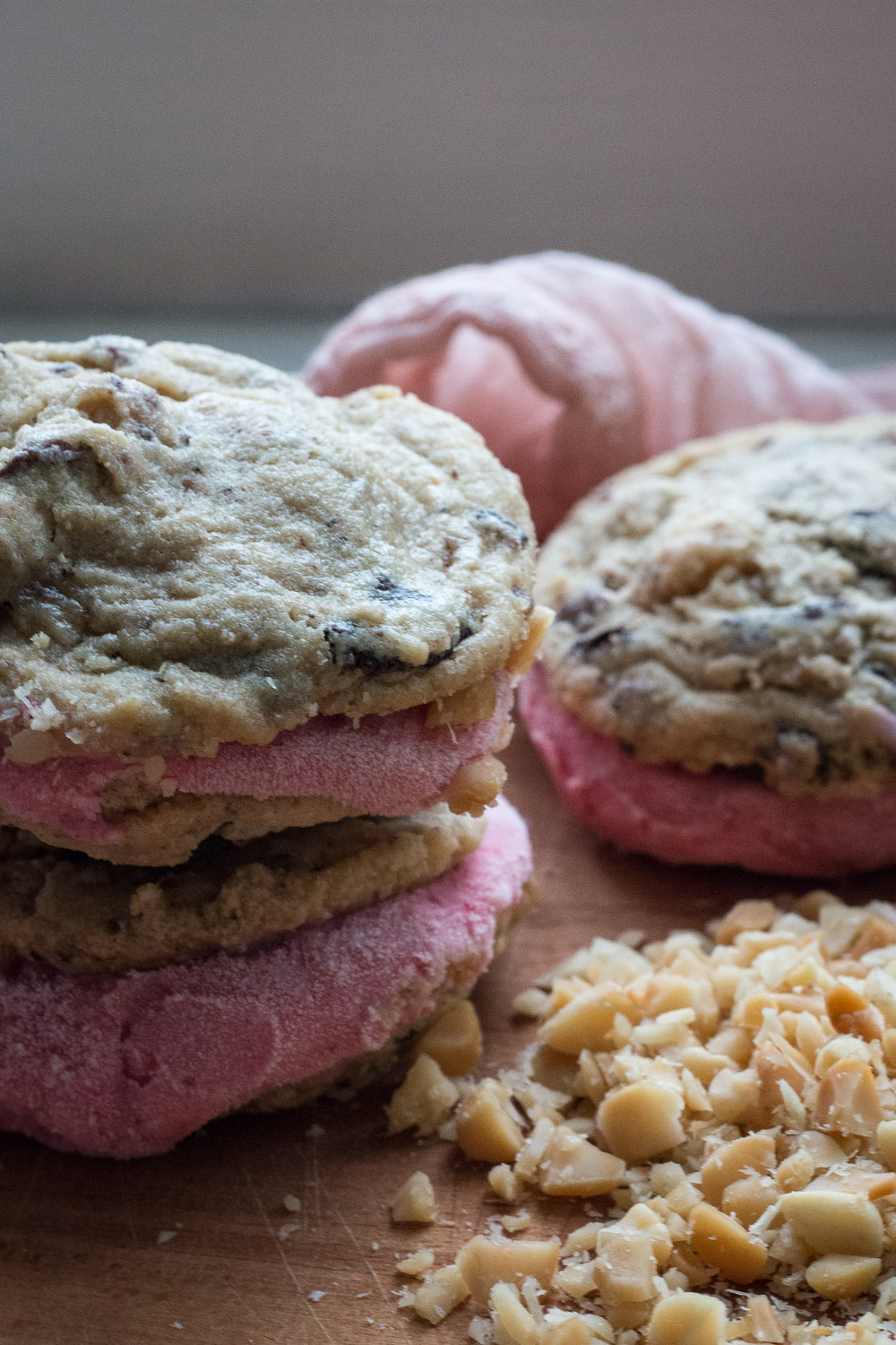 soft baked milk chocolate and macadamia nut cookies   Linden & Lavender