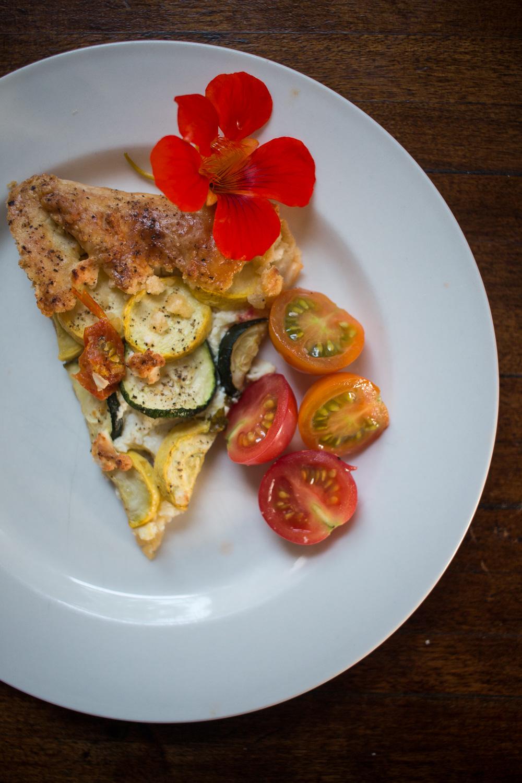 zucchini and feta galette   Linden & Lavender