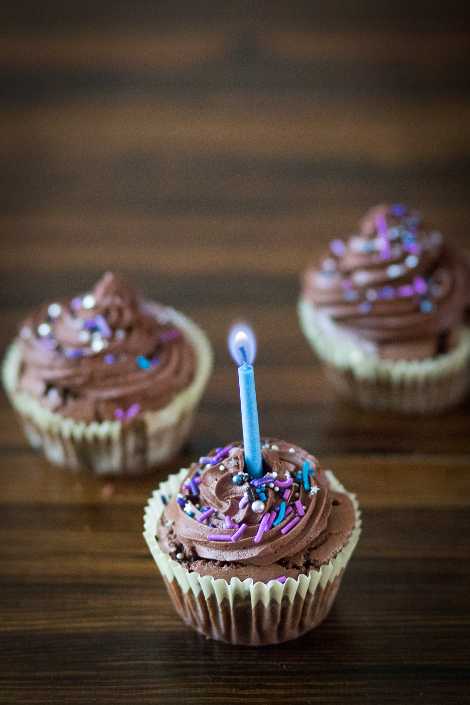 Fudge brownie cupcakes with spelt flour