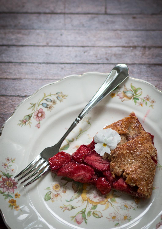 strawberry galette spelt crust   linden & lavender