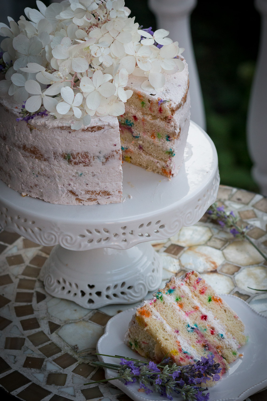 Funfetti Cake  Strawberry Buttercream