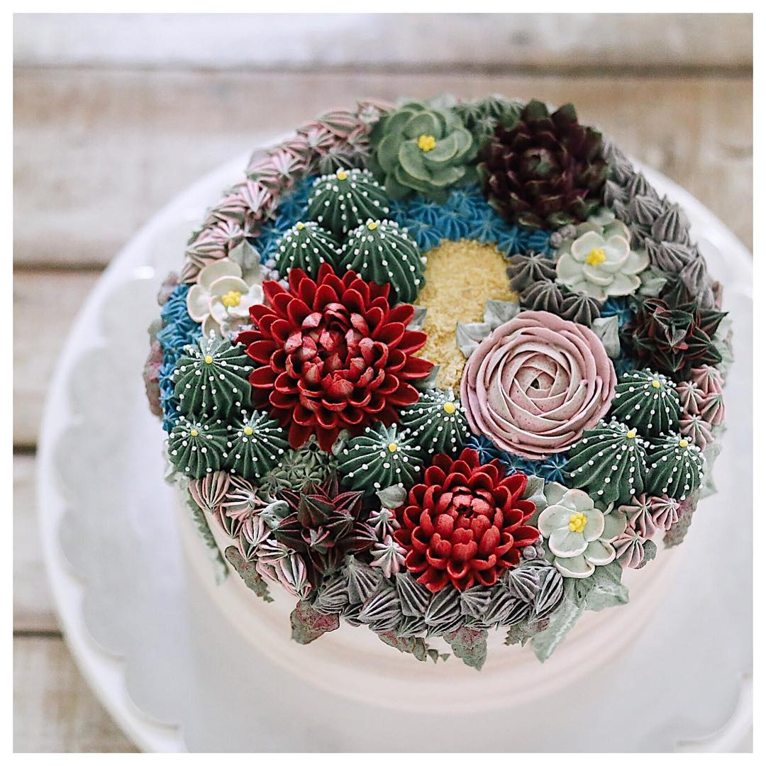 Succulent Cake by Ivenoven made by artisan homebakers in Jakarta and Surabaya