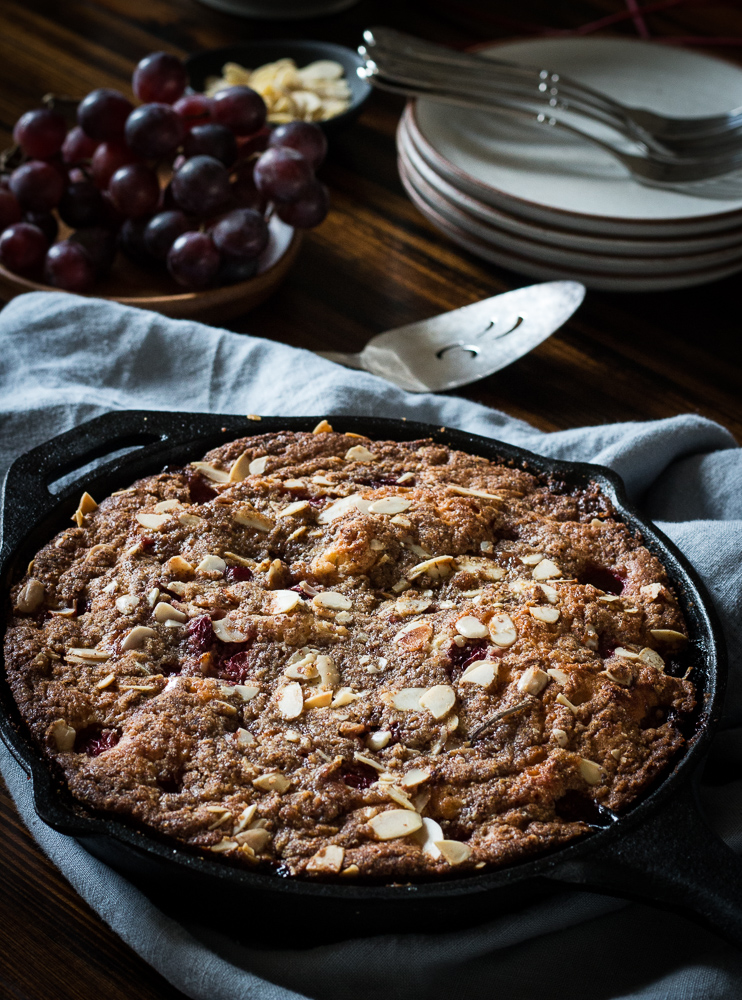 Cherry almond buckle | Linden & Lavender