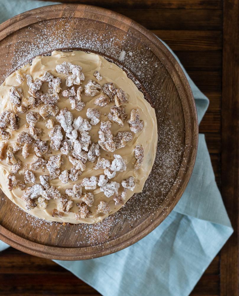 Coffee Walnut Cake   Linden & Lavender