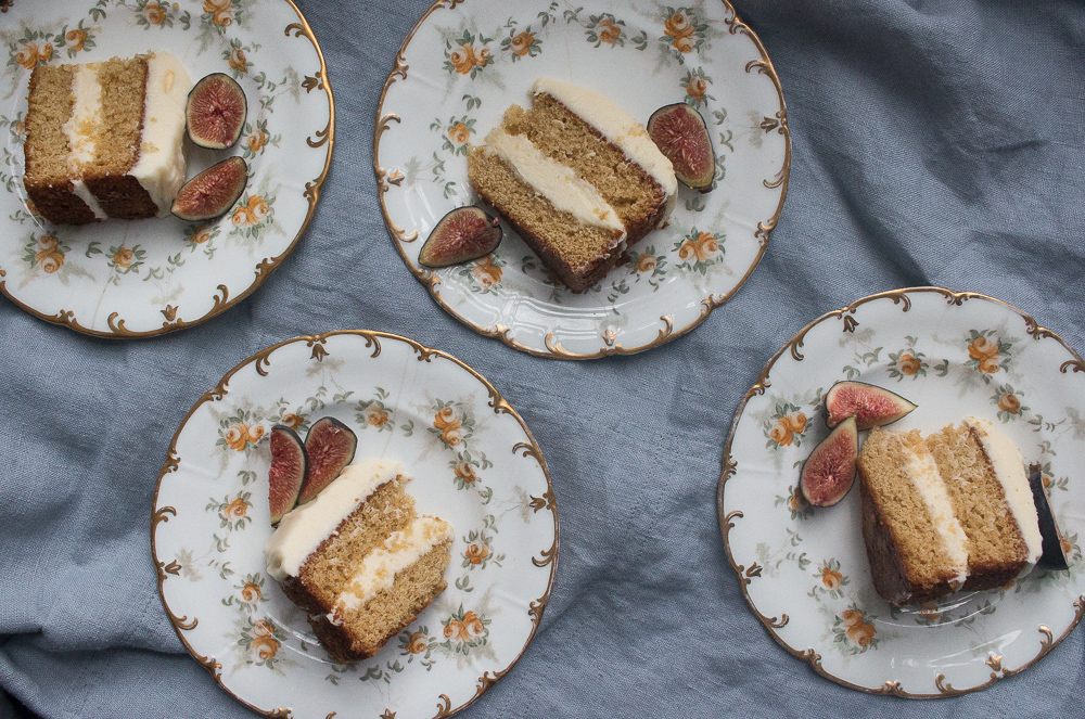 Earl Grey Cake with Honey Cream Cheese Icing | Linden & Lavender