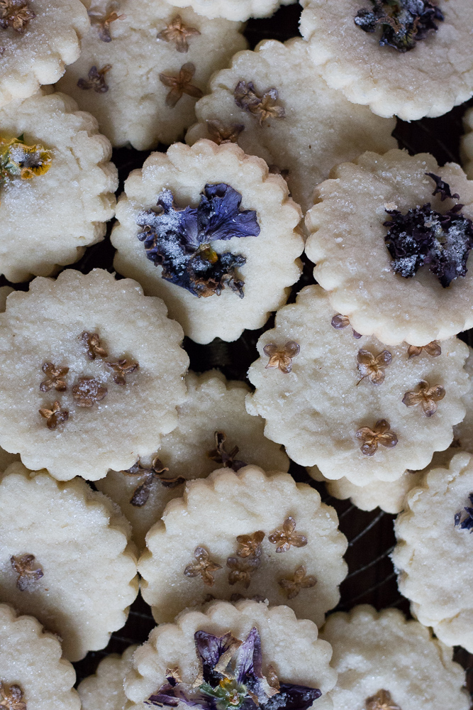 Pressed Lilac Shortbread | Linden & Lavender