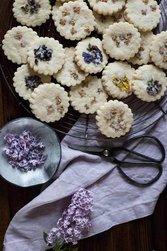 Pressed Lilac Shortbread