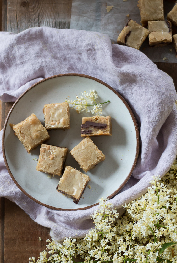 Brown Butter Chocolate and Peanut Butter Blondies | Linden & Lavender