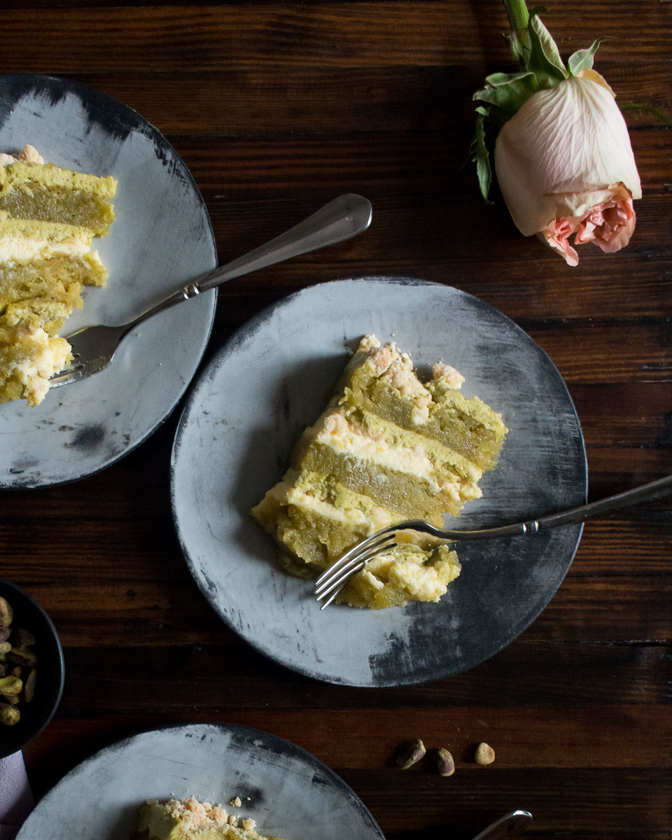 Pistachio Layer Cake Gluten Free | Linden & Lavender