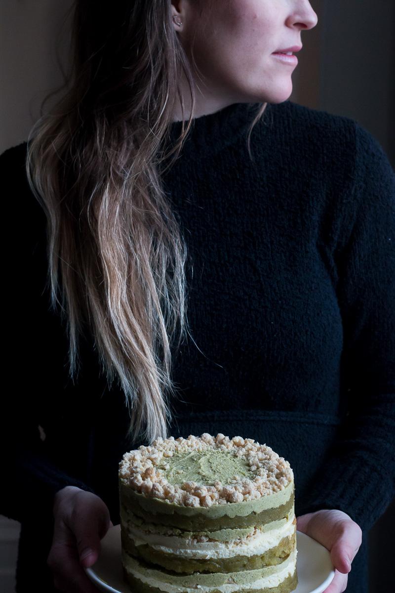 Gluten Free Pistachio Layer Cake | Linden & Lavender