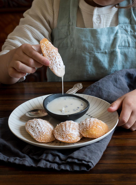 Dipping Madeleines in the Lavender Glaze | Linden & Lavender