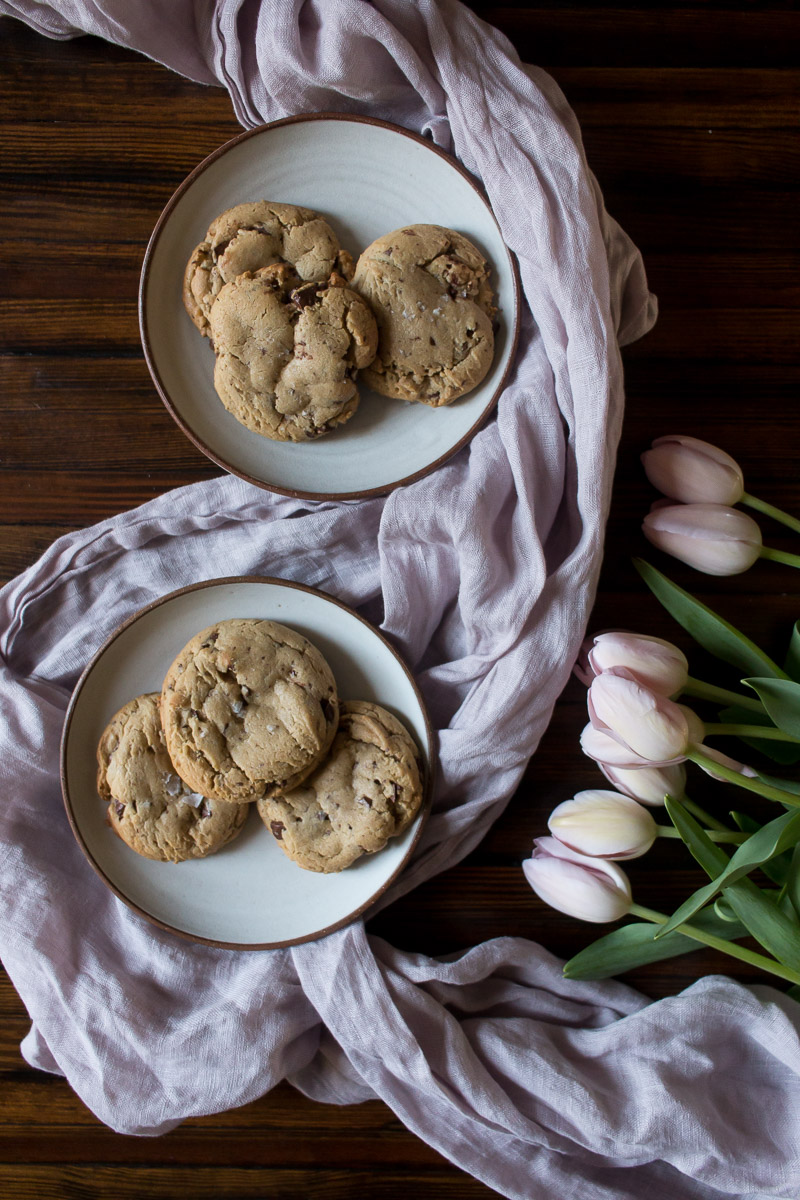 Bakery Style Peanut Butter Chocolate Chunk Cookies | Linden & Lavender