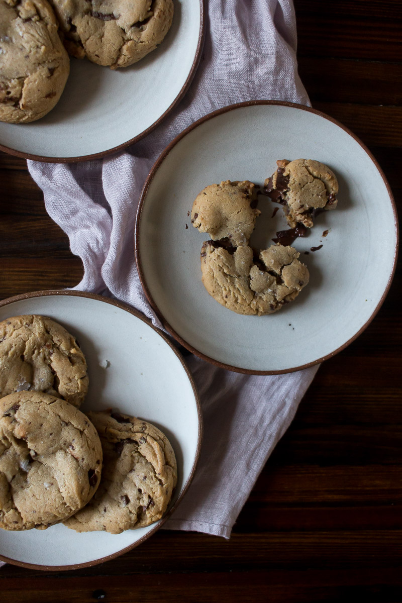 Bakery Style Peanut Butter Chocolate Chunk Cookies