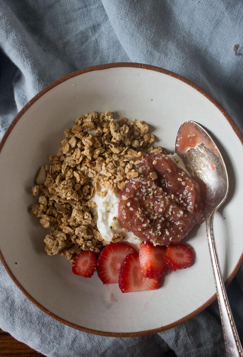 Stewed Rhubarb for Breakfast | Linden & Lavender