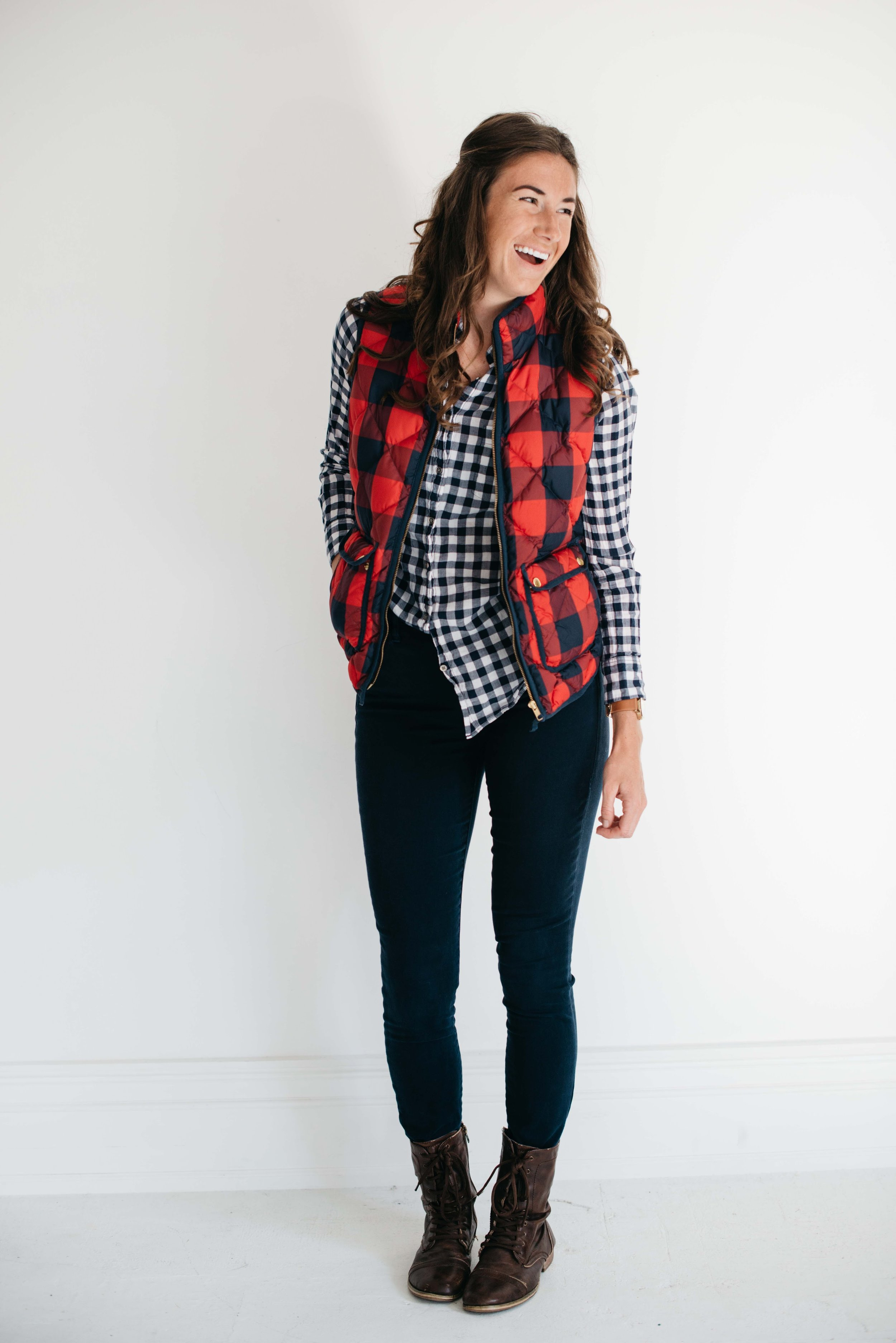 Or you can half-tuck the shirt it to make it a little spunky.