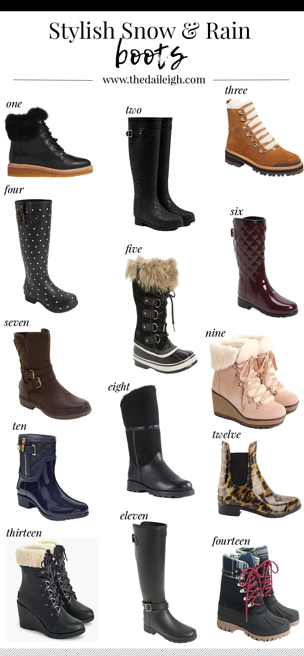Stylish Boots To Wear In The Snow And Rain