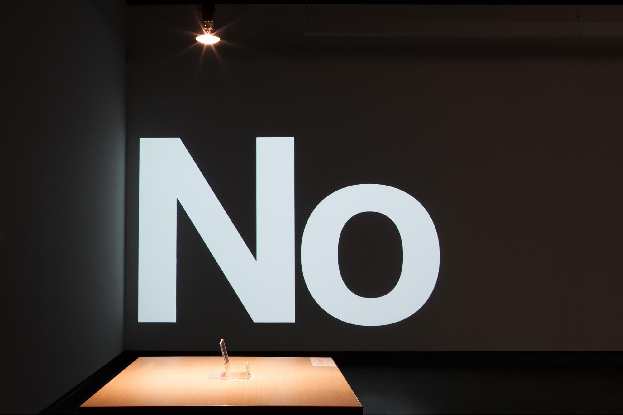 © Vue de l'exposition  Let's be open about... L'art conceptuel (2016). Photo : Marilou Crispin.