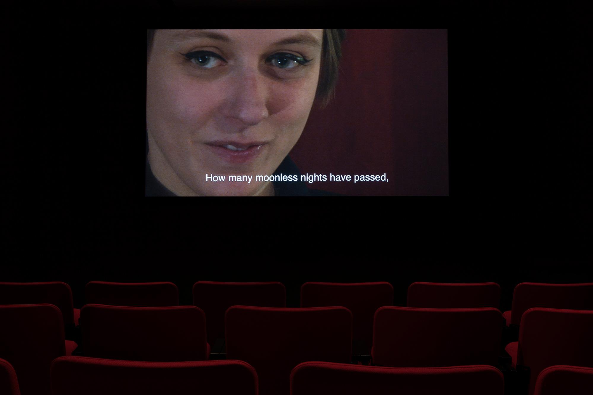 ©Kathryn Elkin,  Your Voice (2016). Vue de l'exposition  Television . Photo : Marilou Crispin.