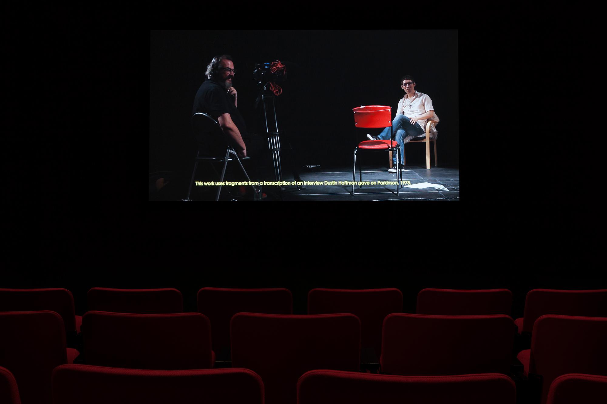 ©Kathryn Elkin,  Why La Bamba (2015). Vue de l'exposition  Television . Photo : Marilou Crispin.