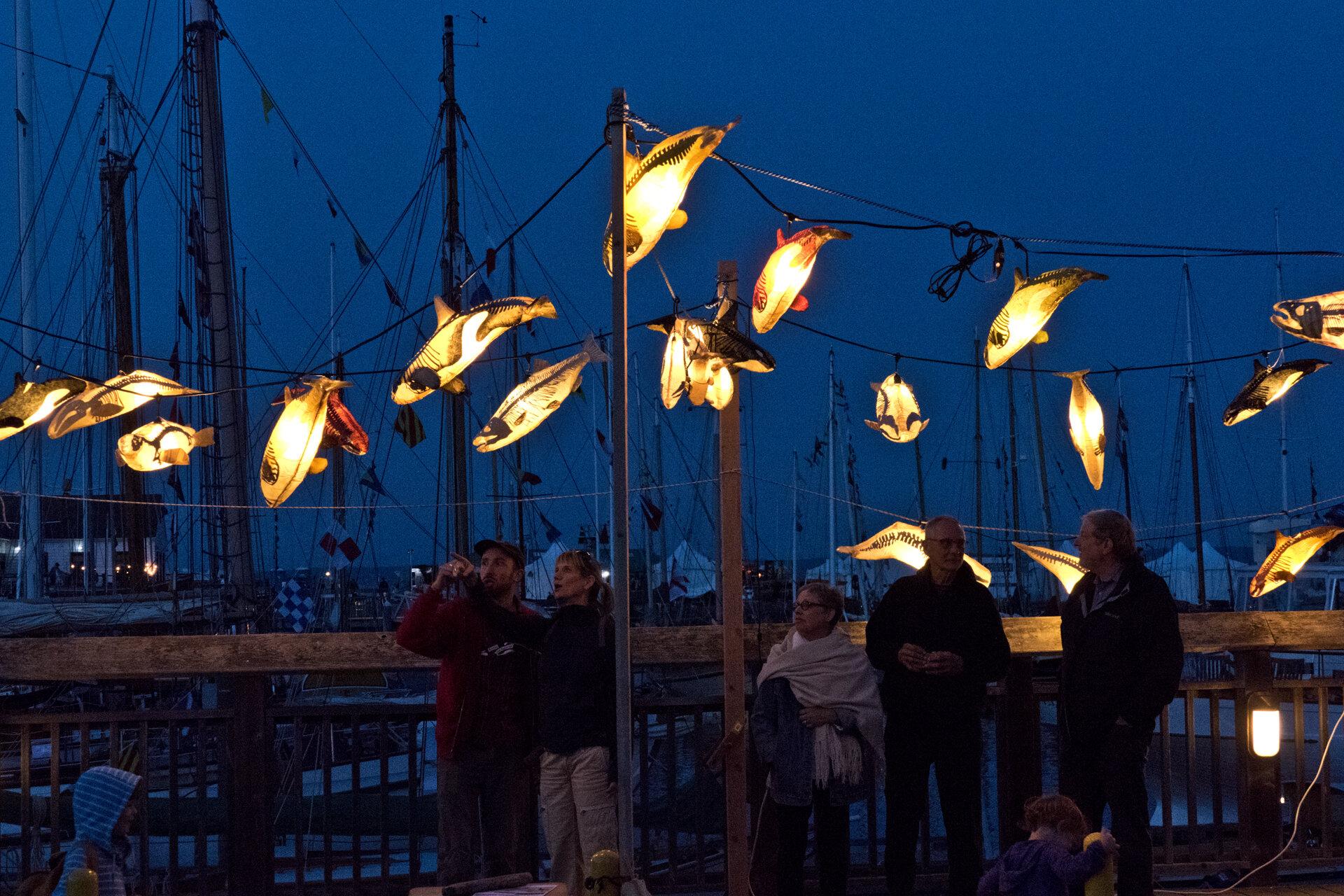Outdoor installation at Wooden Boat Festival