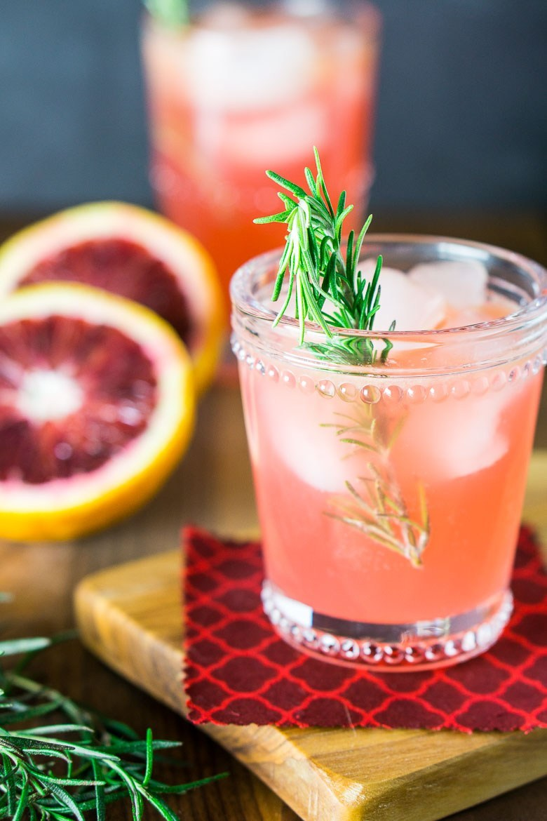 Blood Orange- Rosemary Jin and Tonic