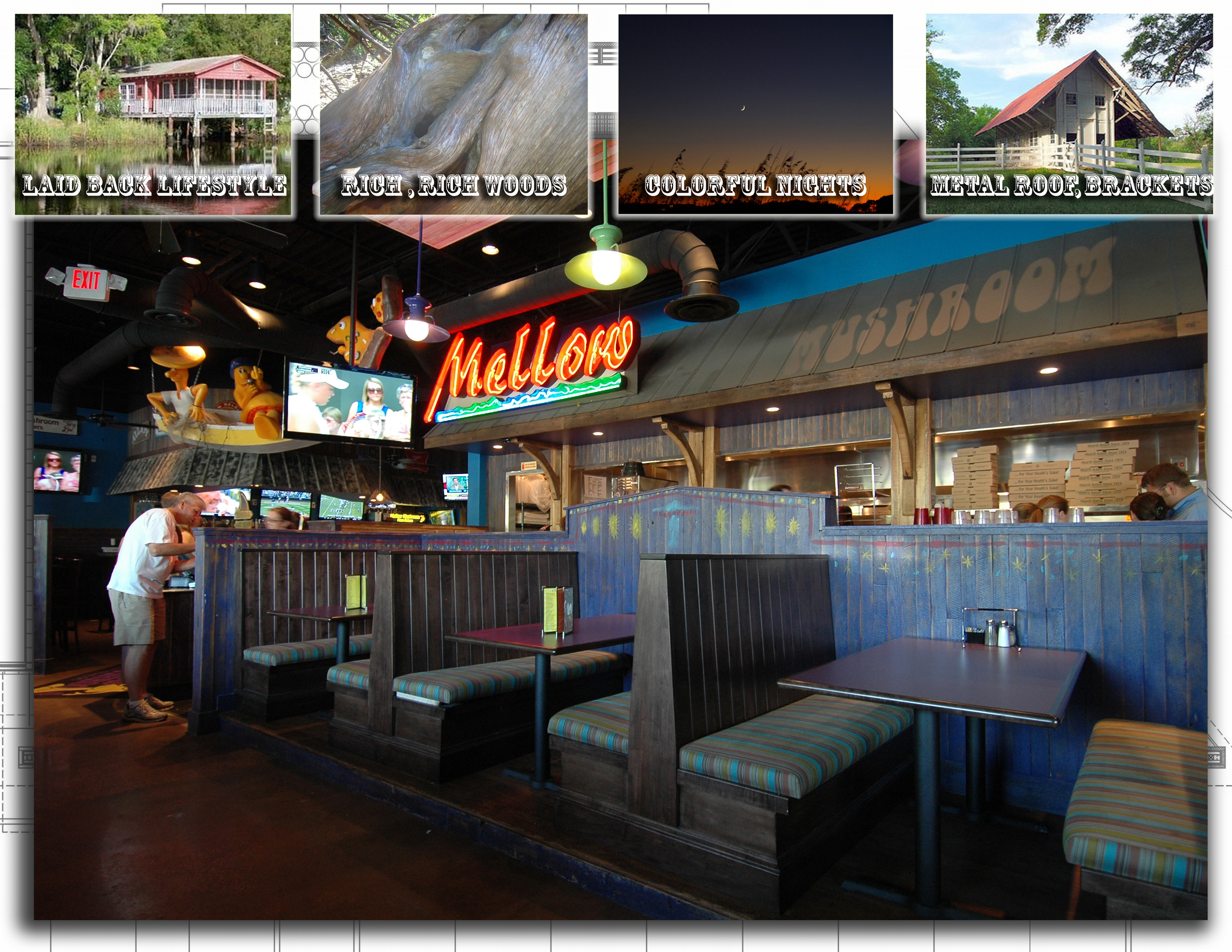 Mellow Mushroom Pizza Bakers   Firm:  Square Feet Island Architects, Inc.  Architect:  Don Baker, AIA