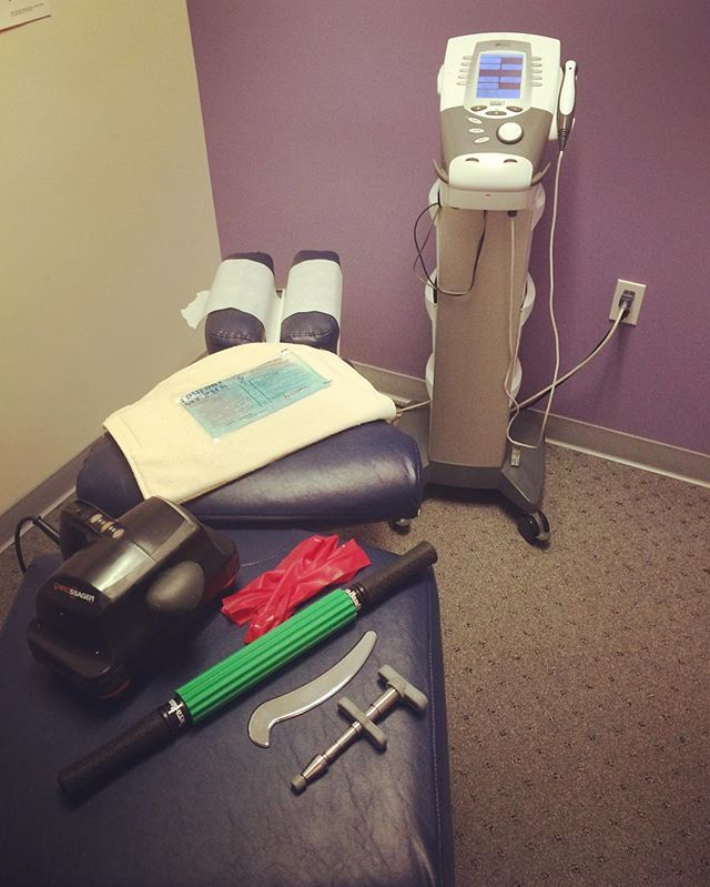 Here are just a few things we use in the office to get you feeling better. From chiropractic adjustments to ultrasound we have you covered! #chiropractic #chiropractor #charlottesville #cville #charlottesvilleva #activator #heattherapy #estim #exercise #massage #massagetherapy