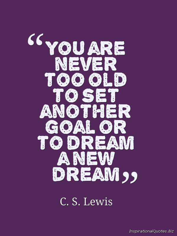 a new goal a new dream quote
