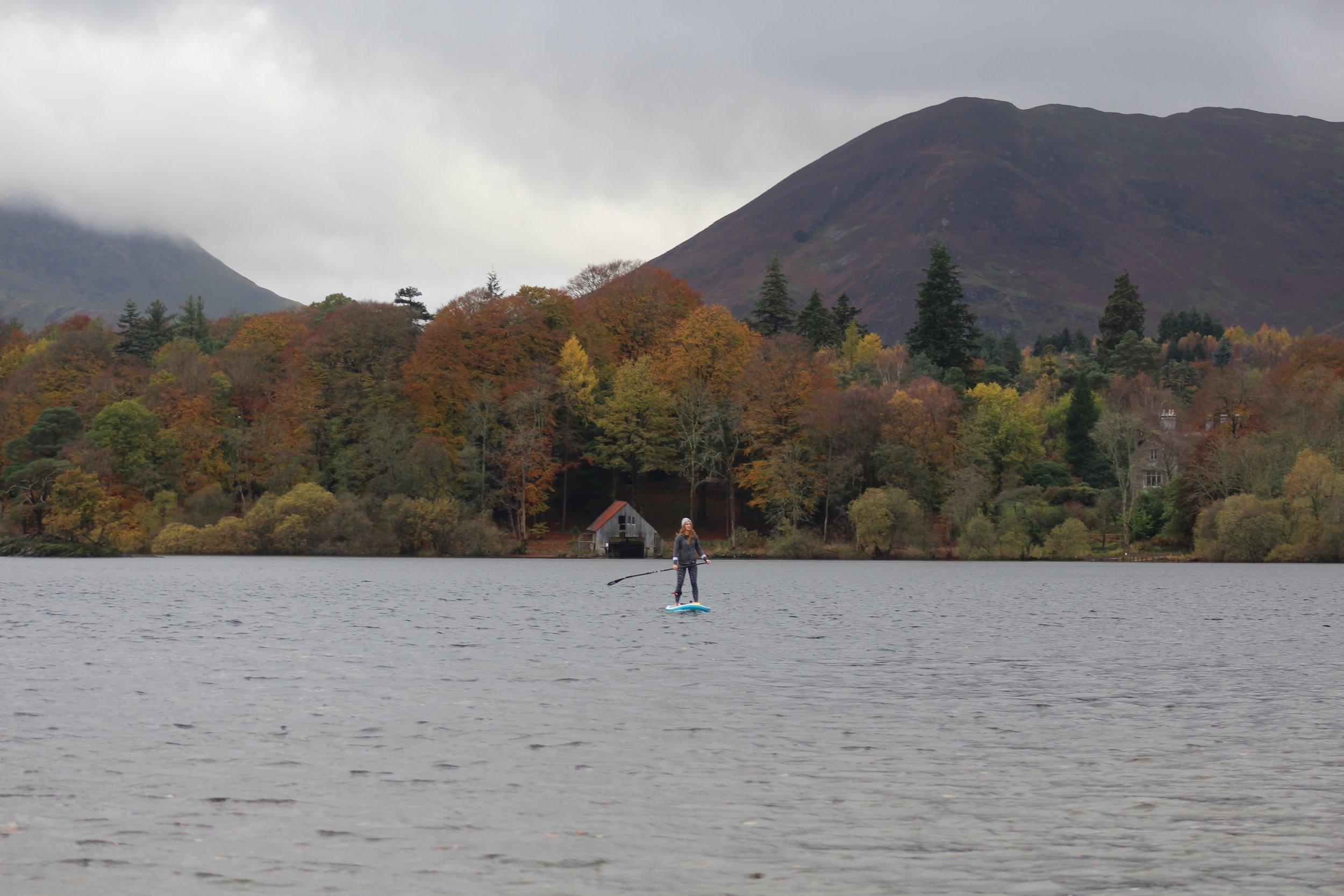 Autumn colours on Derwent Water.