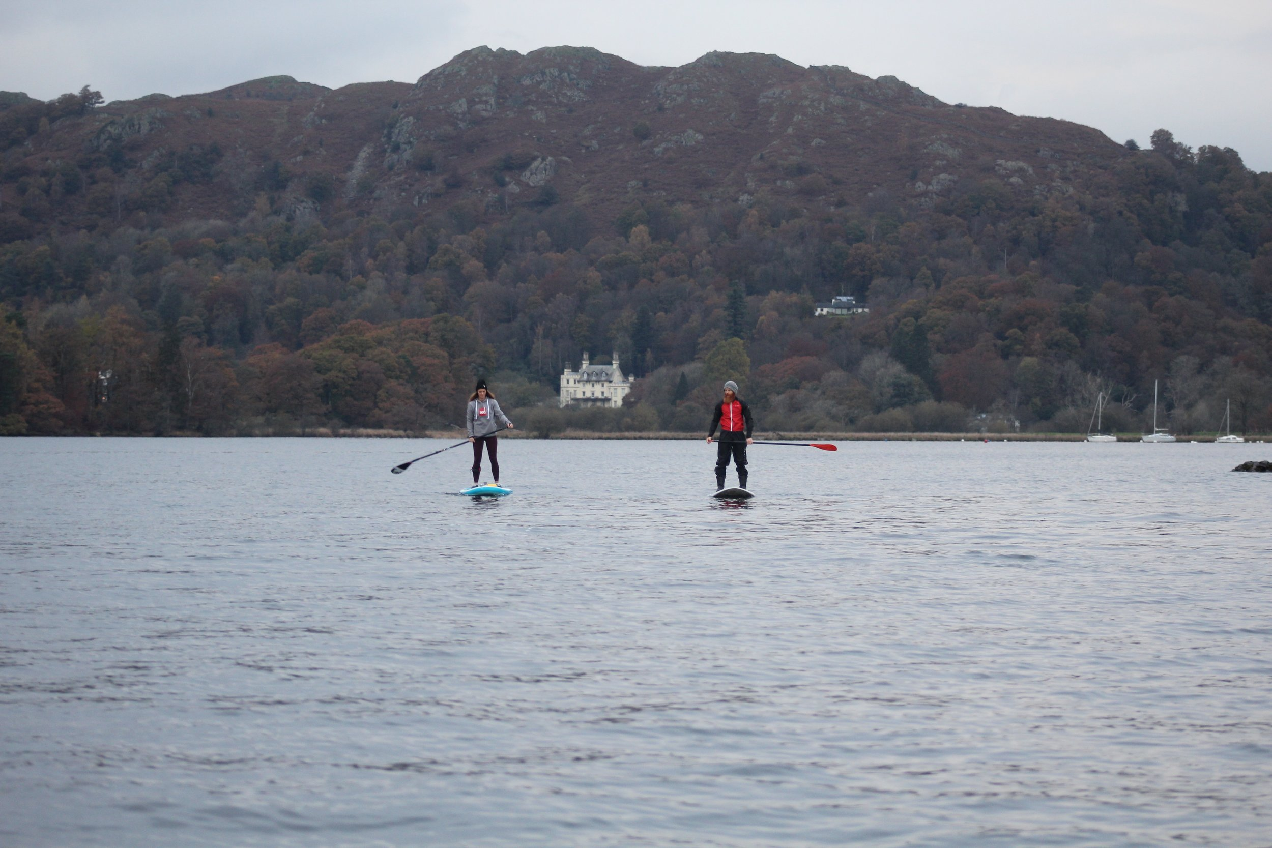 Paddle boarding on Windermere