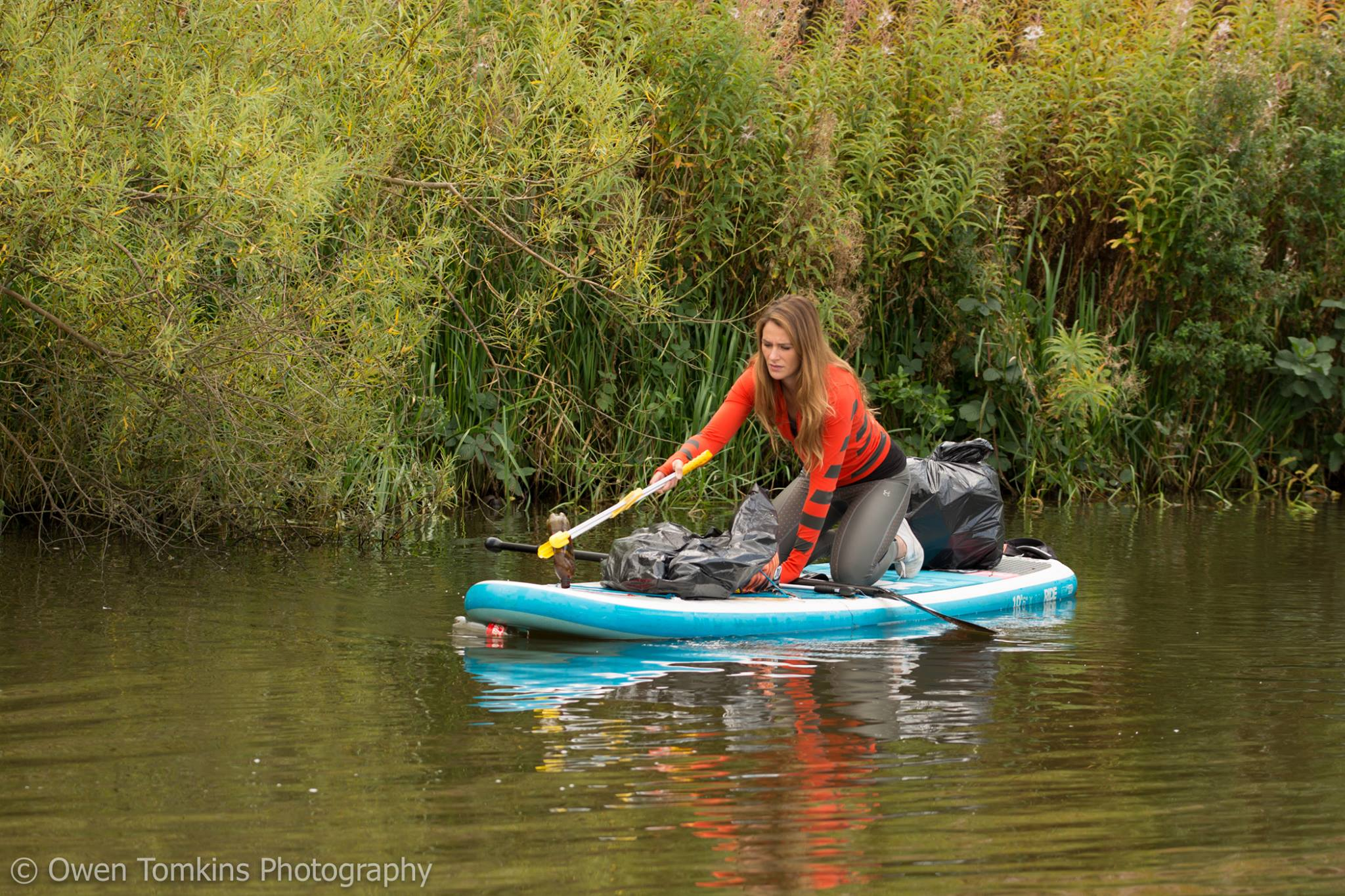 Plastic in rivers and canals