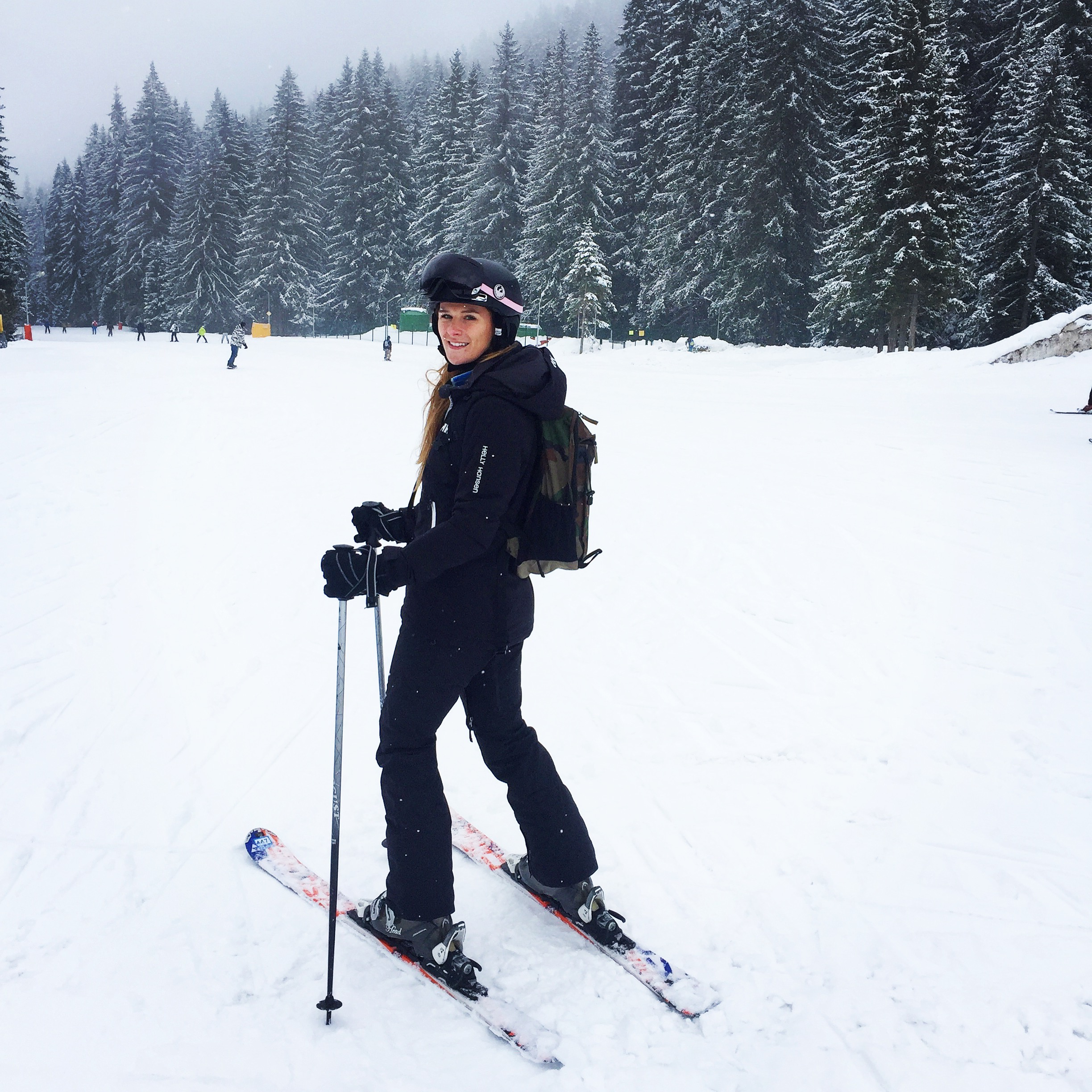 Getting more confident on the skis