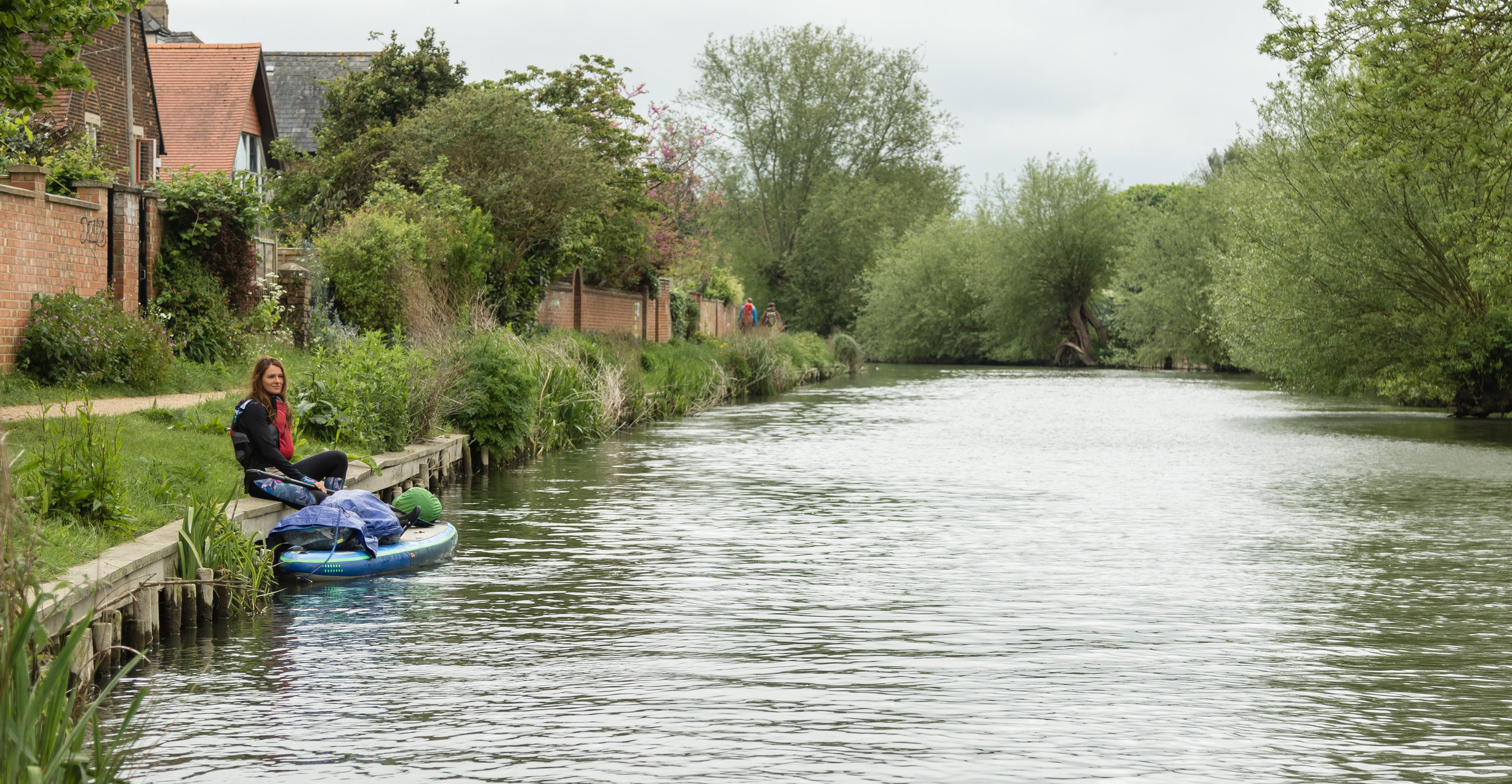 Paddle boarding in England