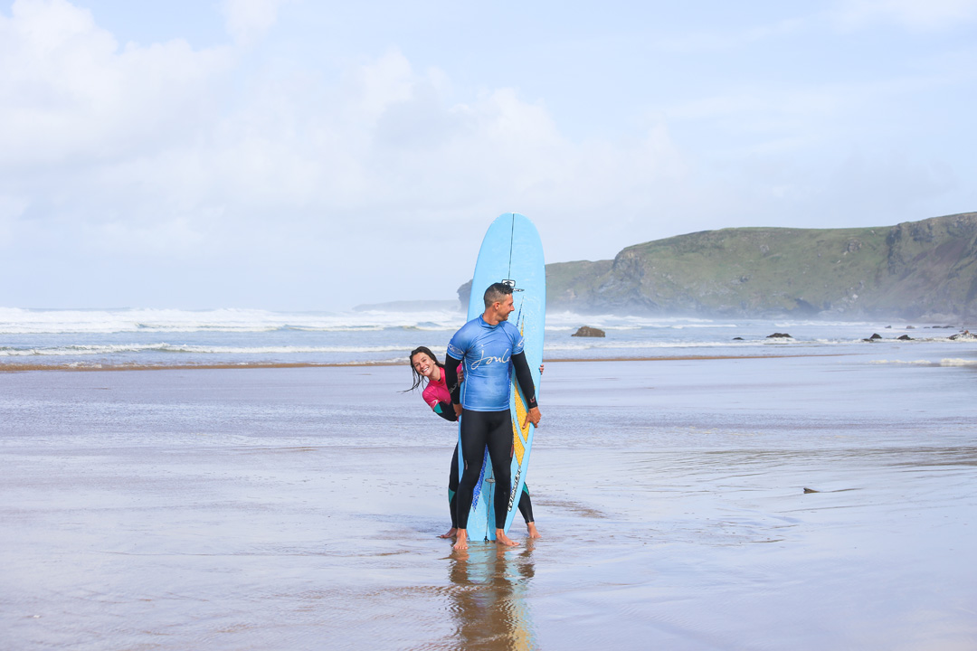 Fistral beach long boarding
