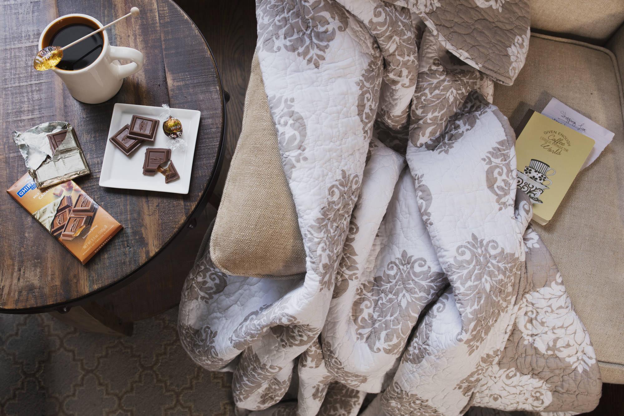 chocolates and comfort
