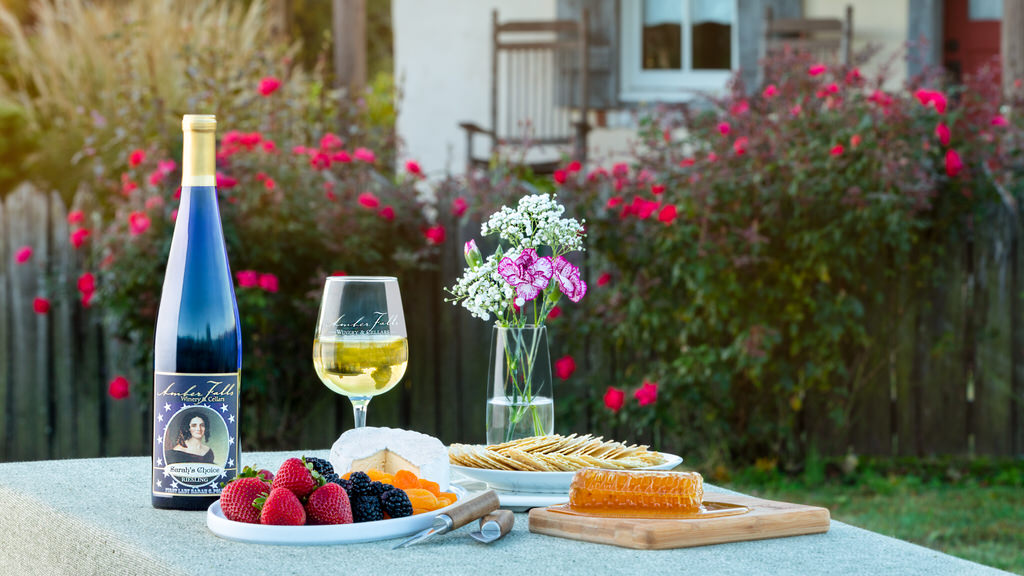 Styled food photography session for Amber Falls Winery