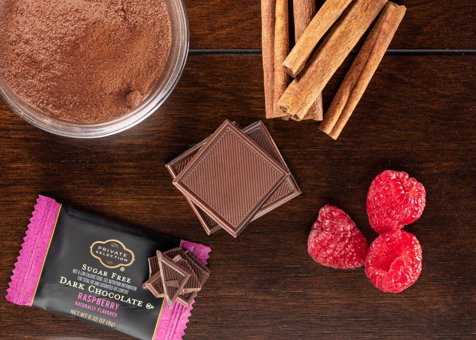 Image of a raspberry chocolate by Nashville food photographer Mayur