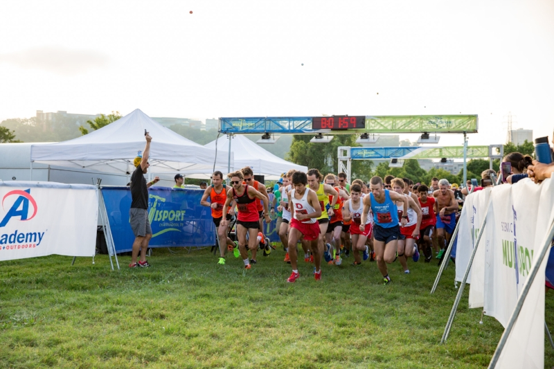 The start of the  Cam Run Memorial 5k  2016 Photo by  Emily Lester