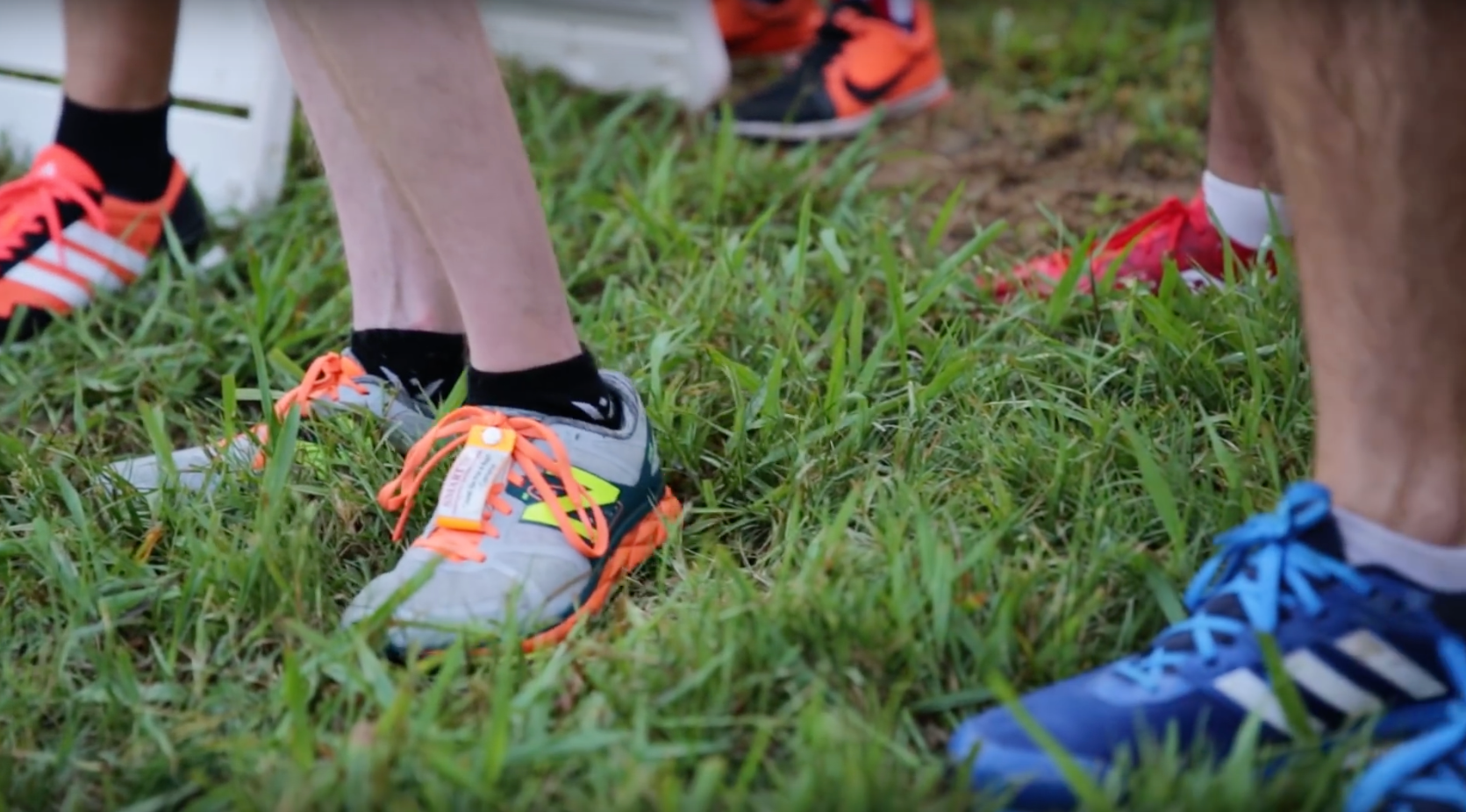 Properly fitted shoes are an essential part of running! Here, runners line up at the  Cam Run Memorial 5k  Photo by Kajsa Swanson
