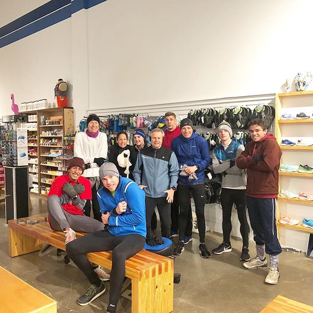 The cold couldn't stop this Sunday crew!  Awesome seeing new faces! Join us every Sunday at 7am for our long run group. #followmetofastbreak