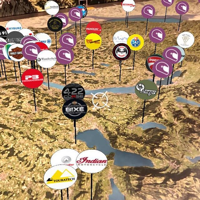 We are excited to present our AR Application AR SWISS-MOTO: Discover more than 100 motorbike tours and 200 passes, the Grand Tour of Switzerland as well as live weather, airplanes and trains over the largest aerial map of Switzerland #swissmoto #ar #switzerland
